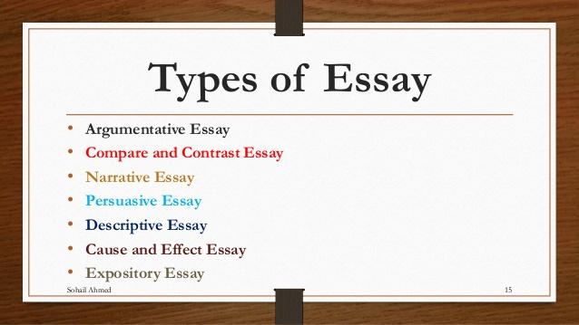 kinds of writing