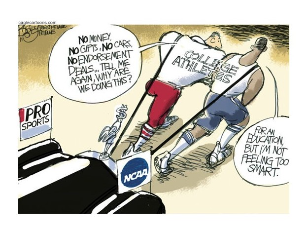 should college athletes be paid to When i played football for notre dame in the 1960s, the ncaa had already compromised its half-century commitment to amateur principles in 1957, after years of intense internal debate, the ncaa.