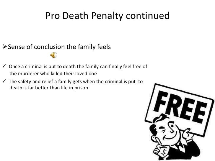 pro death penalty essays